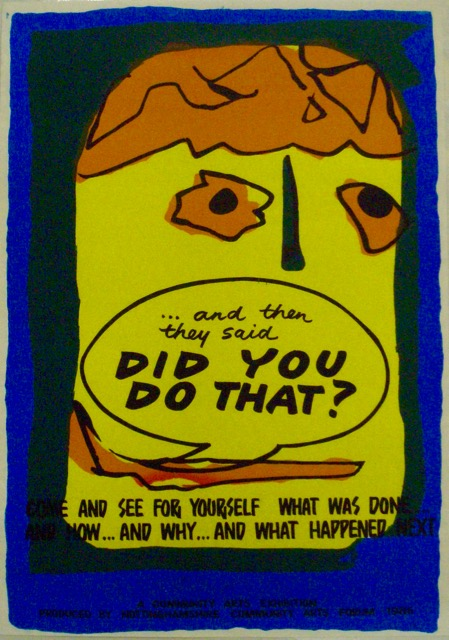Community Art Exhibition Poster (1986) - a part of my history