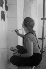 Working on the Mural Summer 1985