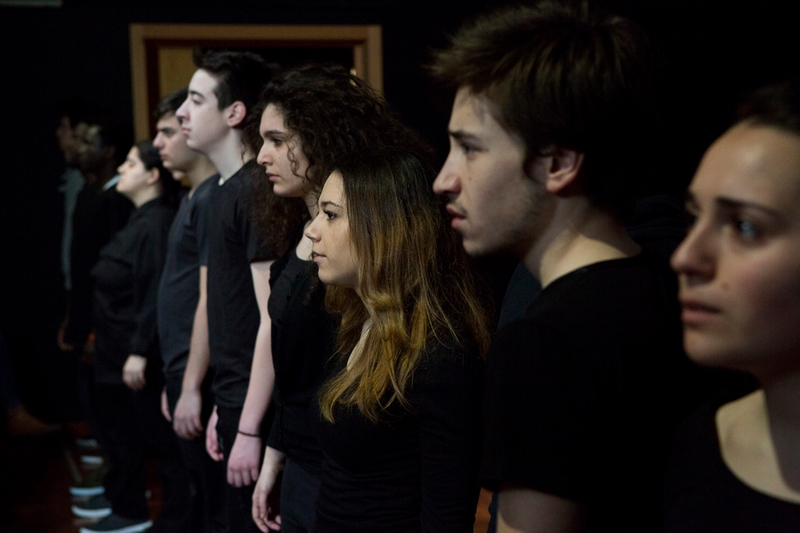 The cast of Lampedusa Mirrors