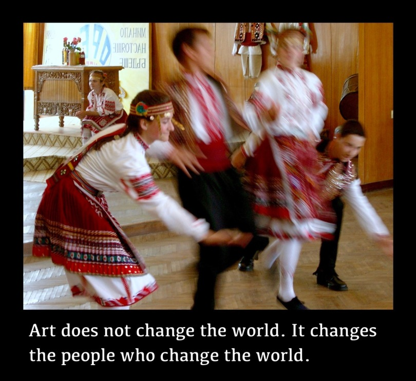 Young people's dance project from the Living Heritage programme in Bulgaria, 2004