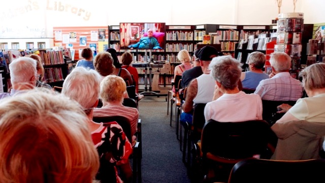 Multistory Film Screening at Great Bridge Library - 'Turkey and Tinsel' by Martin Parr (Photo © Becky Jones)