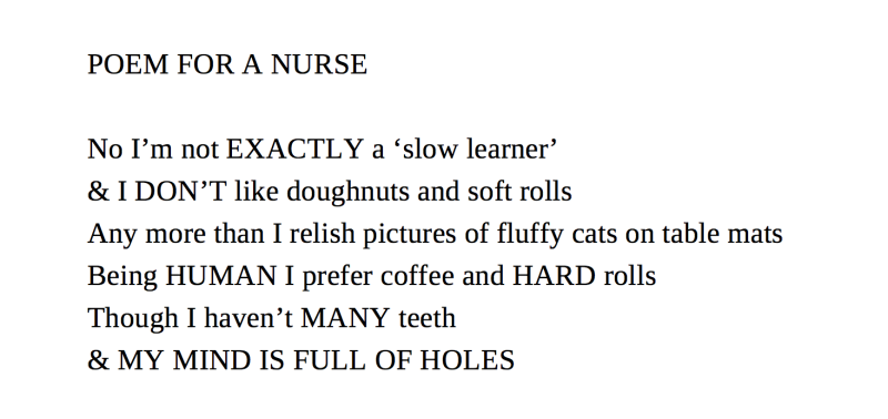 Poem for a Nurse © the author