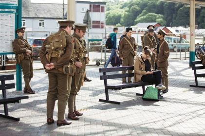 'we're here because we're here' in Bangor © Iolo Penri