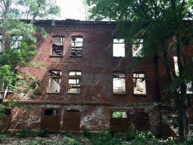 Derelict barracks block