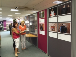 Mahtab Hussain Exhibition, Tipton Library