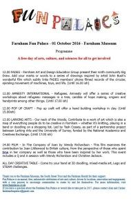 Farnham Fun Palace Poster